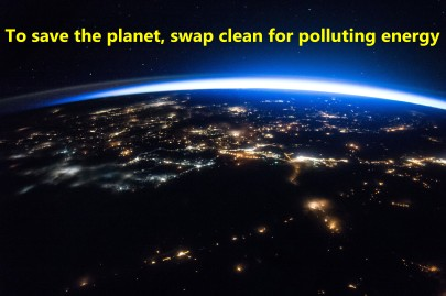 To save the planet, swap clean for polluting energy
