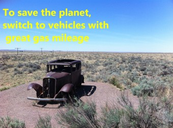 To save the planet, switch to vehicles with great gas mileage